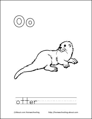 o is for otter coloring page 1000 images about homeschooling alphabet on pinterest is for coloring o page otter