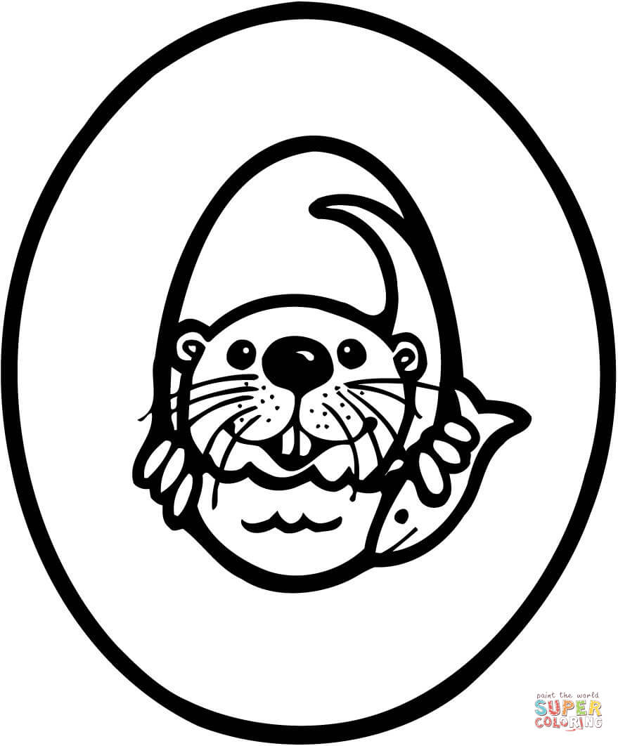 o is for otter coloring page black and white sea otter pictures free download on otter is coloring page o for
