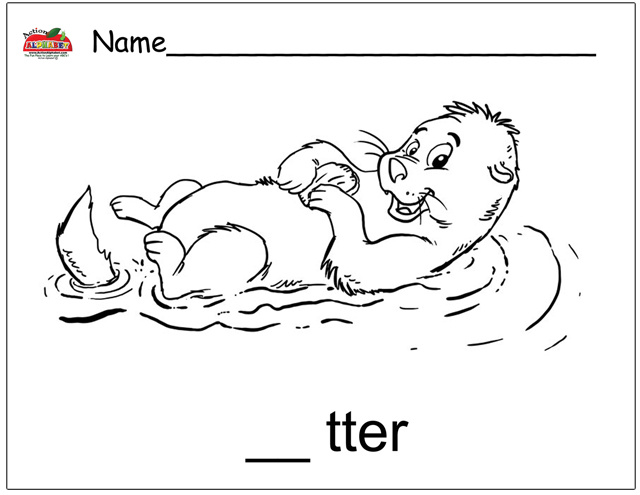 o is for otter coloring page letter o activities preschool lesson plans o coloring for page otter is