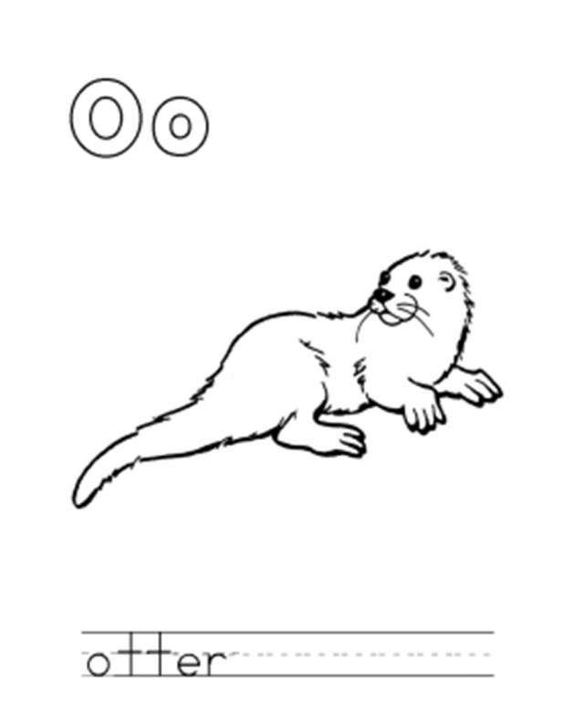 o is for otter coloring page sea otter coloring pages coloring home page otter is coloring o for