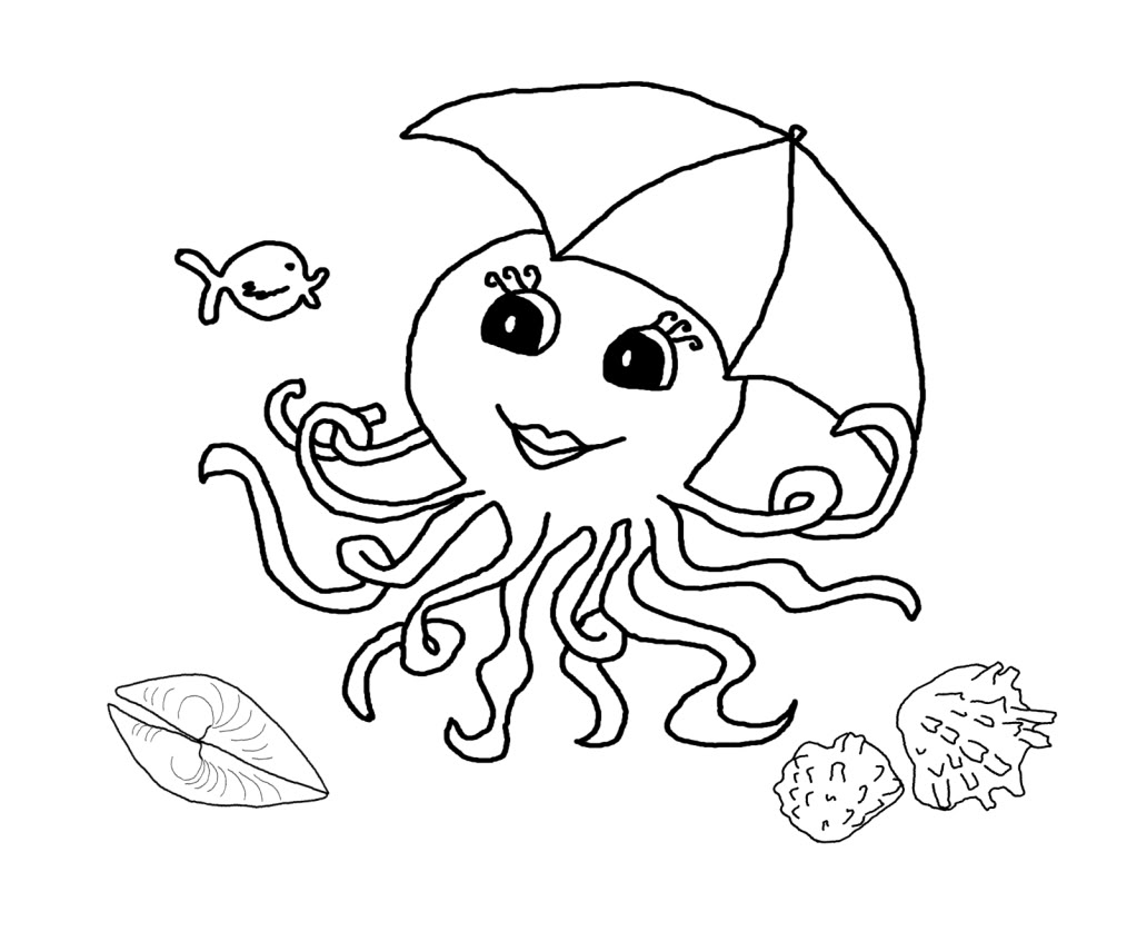 octopus for coloring free printable octopus coloring pages for kids animal place for octopus coloring 1 1