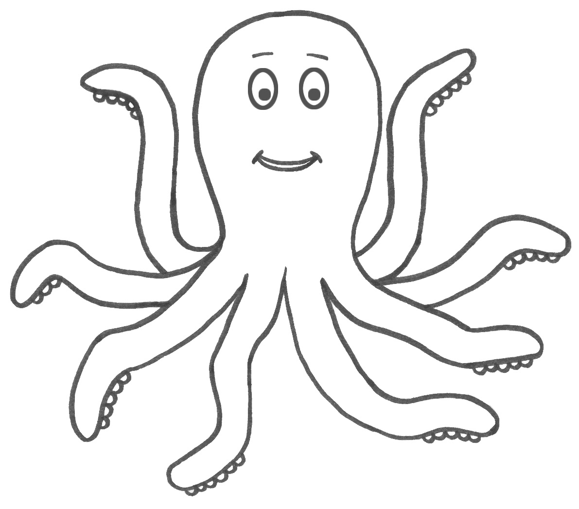 octopus for coloring free printable octopus coloring pages for kids animal place octopus coloring for