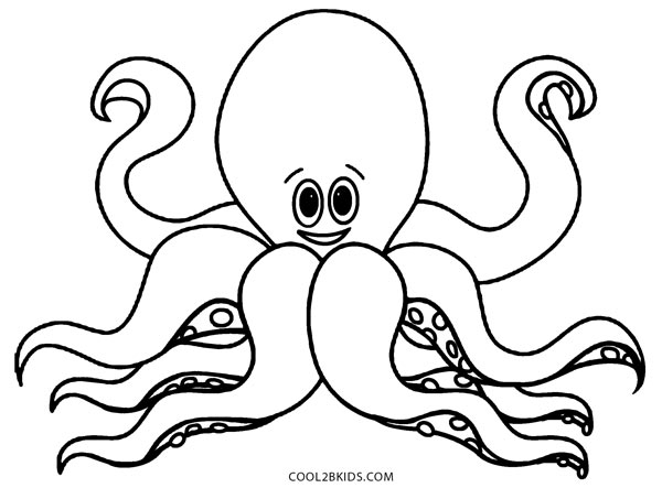 octopus for coloring printable octopus coloring page for kids coloring octopus for