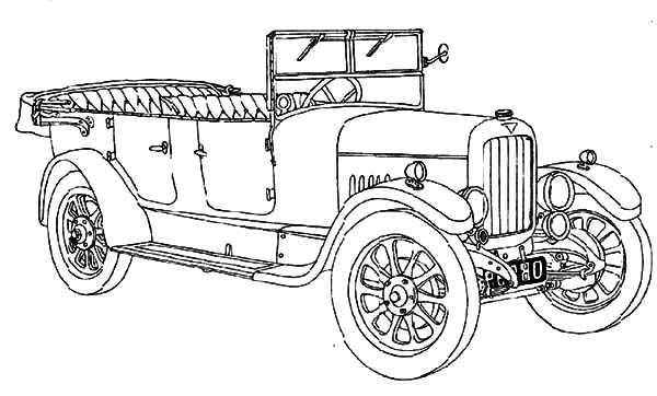 old fashioned car coloring pages vintage car coloring pages vw type 2 poster pinterest fashioned coloring car old pages
