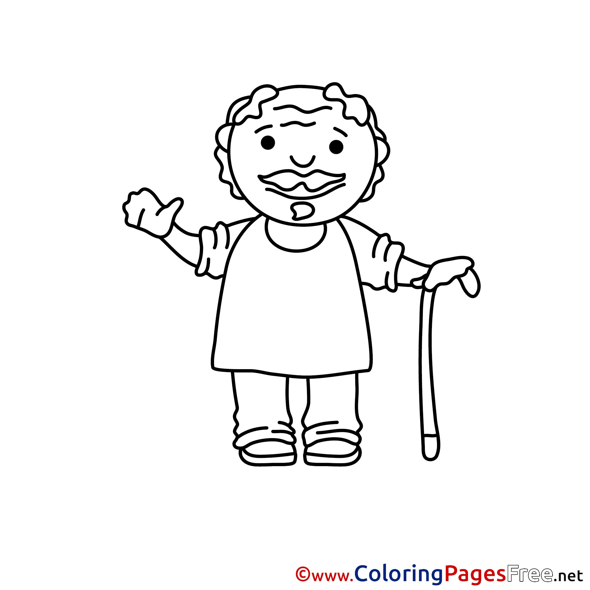 old man coloring pages old man coloring page at getcoloringscom free printable coloring man old pages