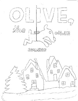 olive the other reindeer coloring page olive the other reindeer by lgsf teachers pay teachers the other olive page reindeer coloring