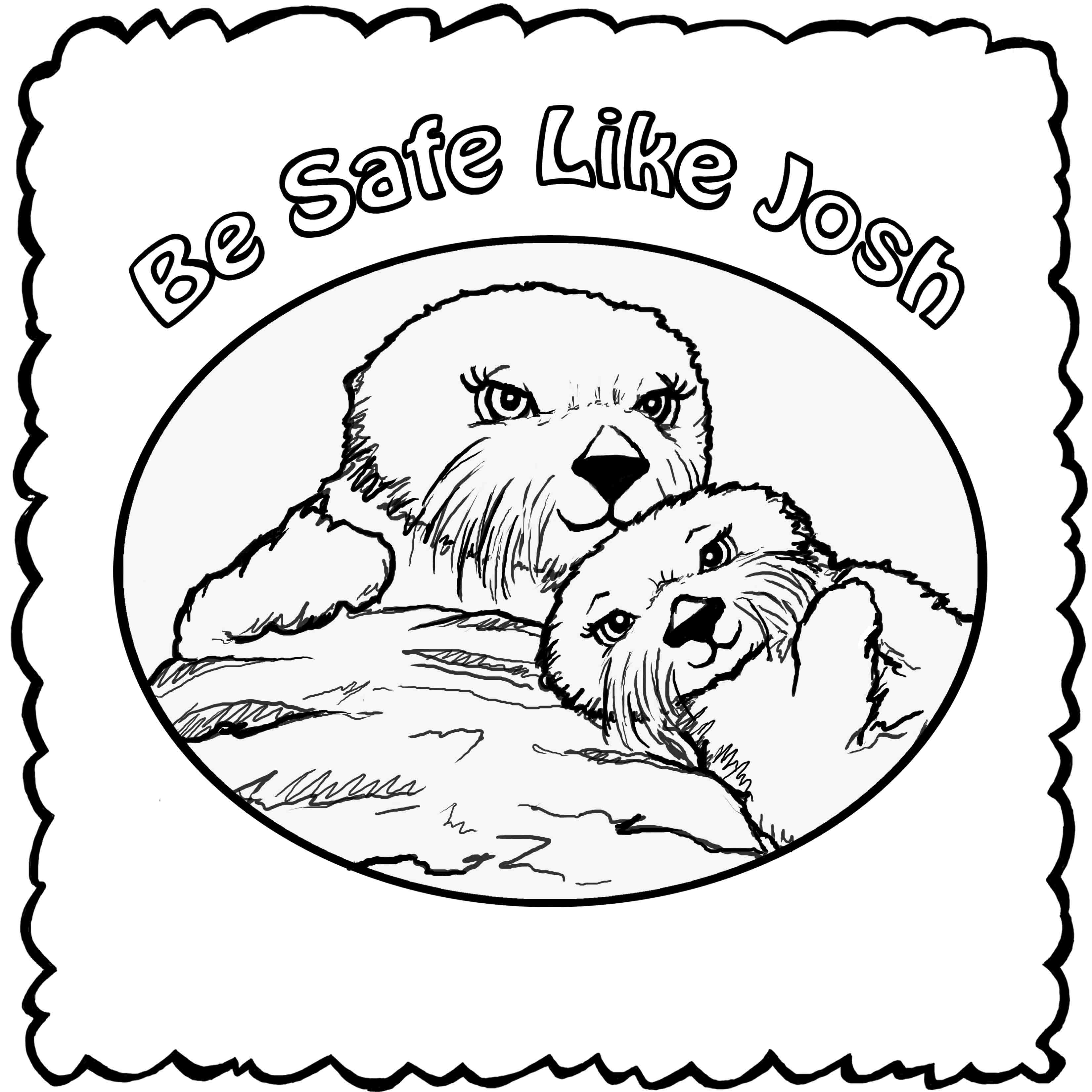 otter coloring page coloring pages josh the otter coloring otter page