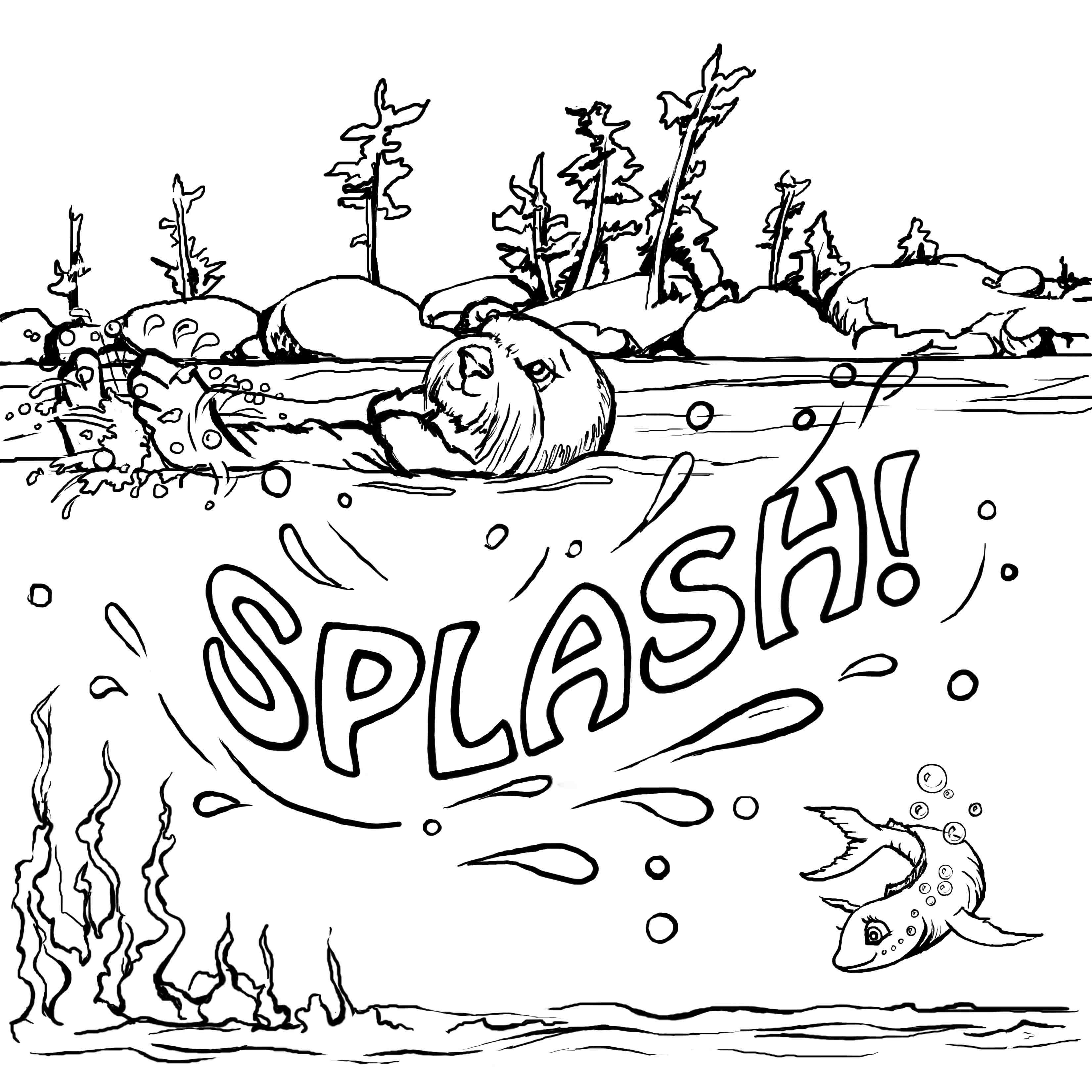 otter coloring page coloring pages josh the otter page otter coloring 1 1