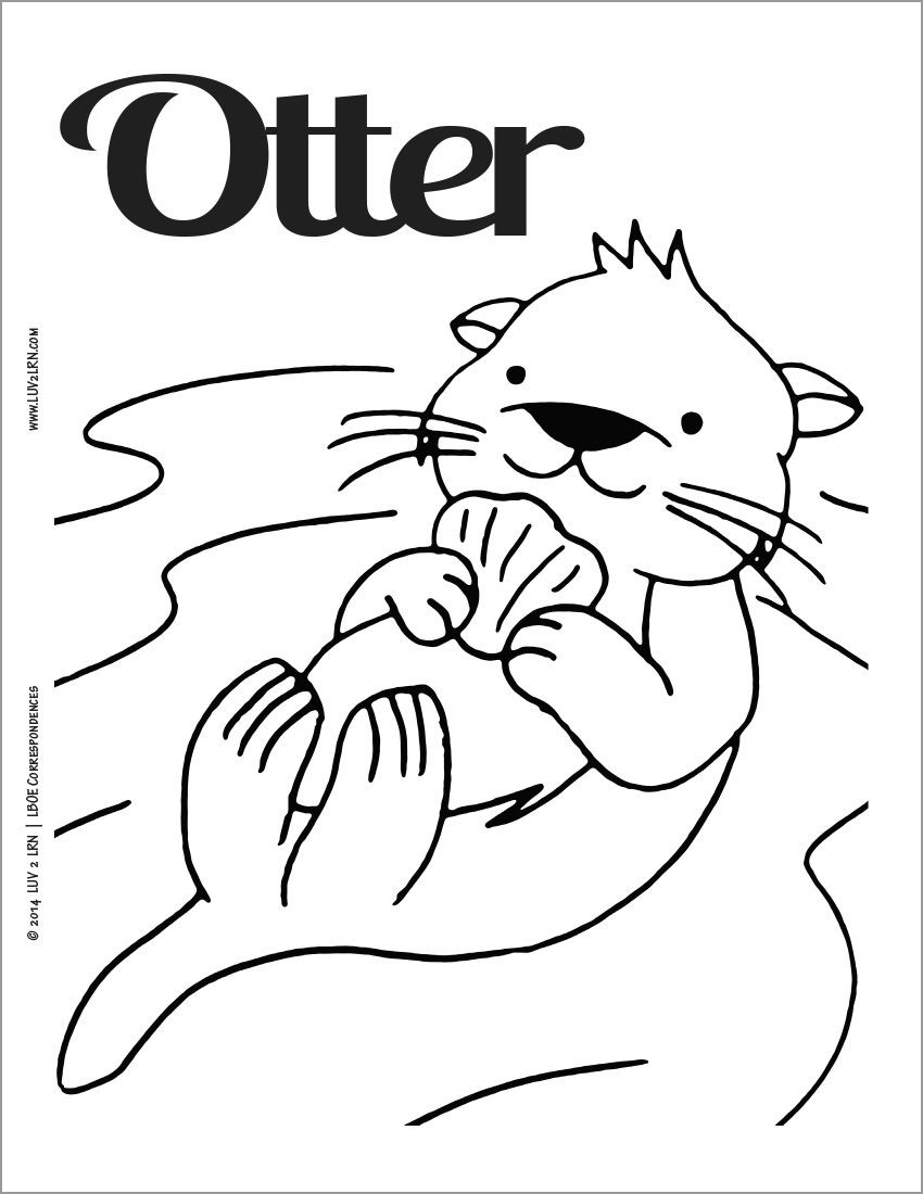 otter coloring page otter coloring pages coloringbay page coloring otter