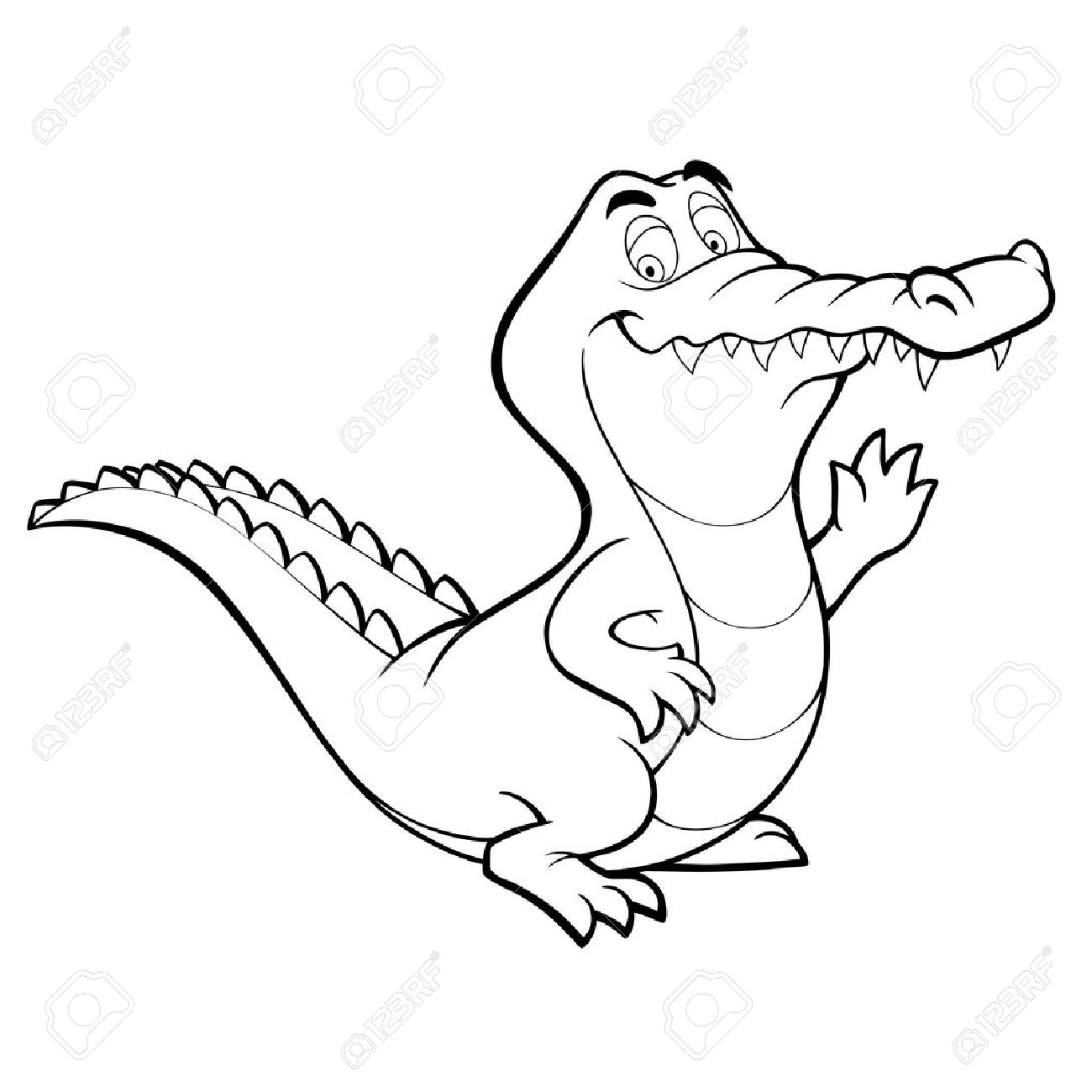 outline picture of crocodile baby crocodile drawing at getdrawings free download crocodile picture of outline