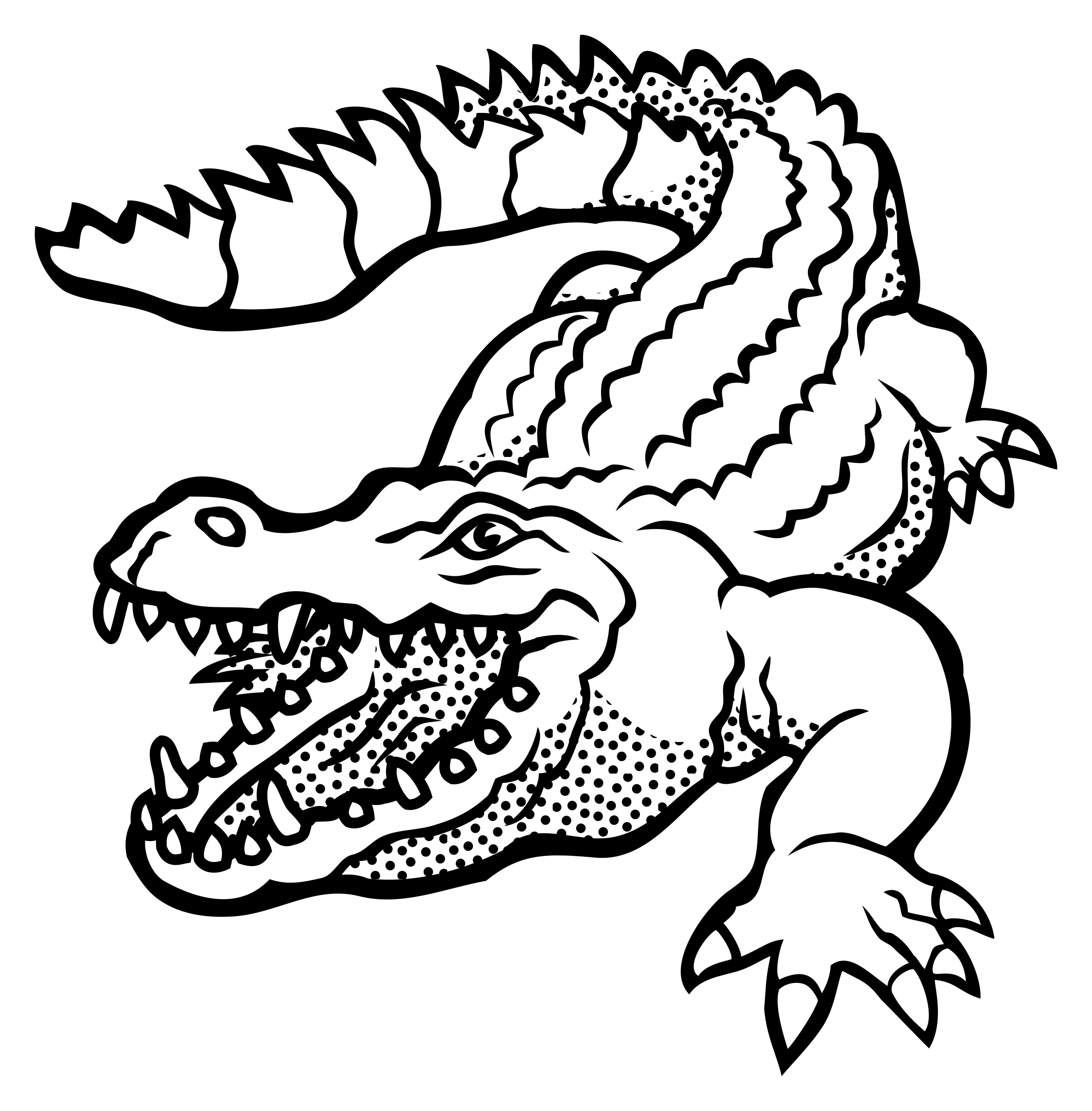 outline picture of crocodile free printable crocodile coloring pages for kids crocodile outline of picture