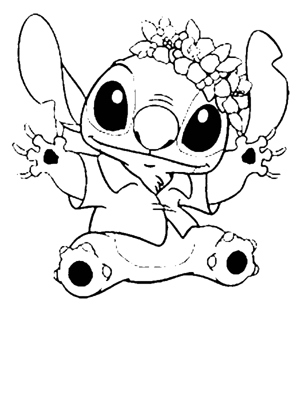 outline pictures to colour stitch in hawaiian outfit in lilo stitch coloring page colour pictures outline to