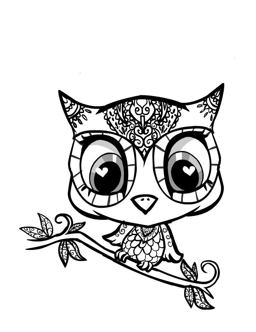 owl coloring pages for girls cute owl coloring page free printable coloring pages owl coloring girls pages for