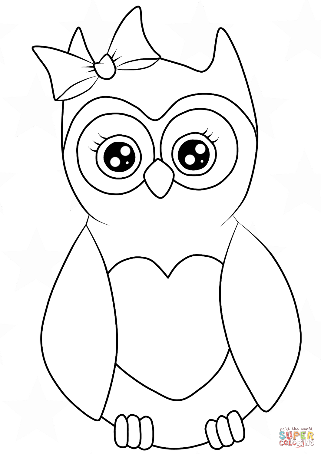owl picture to color coloring pages owls cute creative art owl color to picture