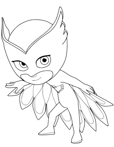 owlette inspired image of owlette coloring page entitlementtrapcom owlette