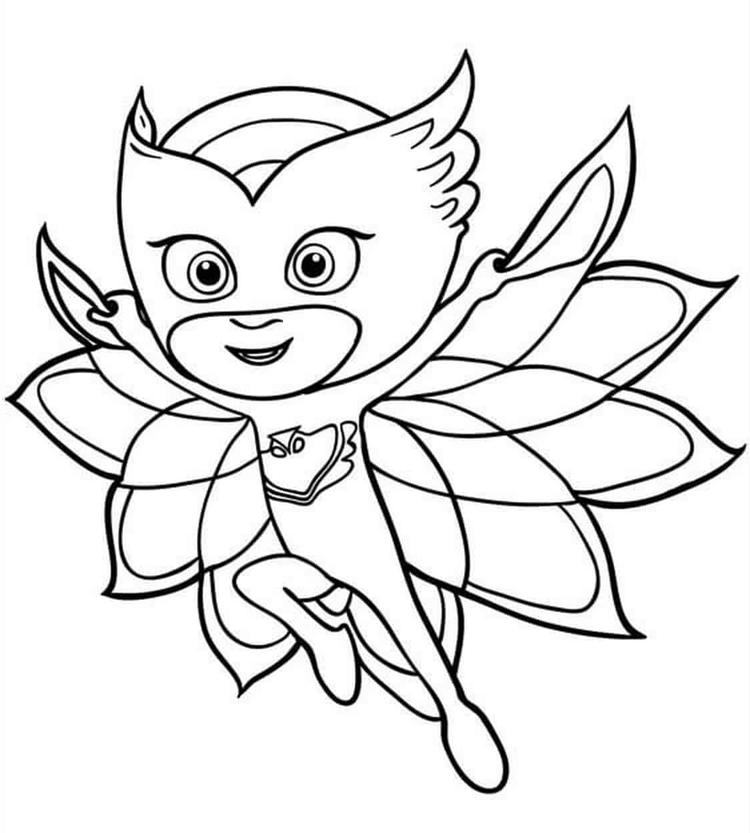 owlette owlette from pj masks coloring pages free printable owlette