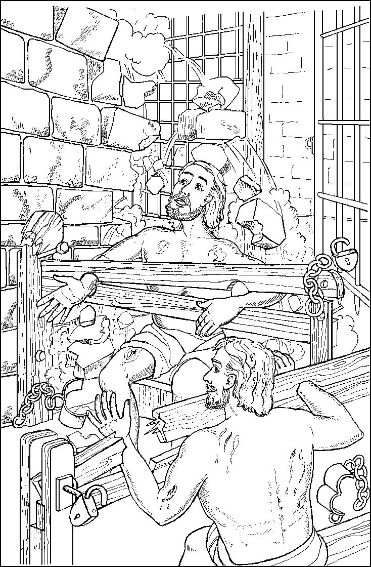 paul and silas coloring page paul and silas in jail coloring page sunday school paul coloring page and silas