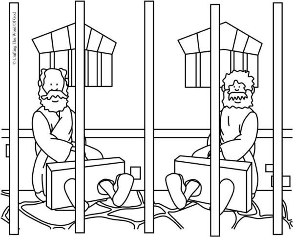 paul and silas coloring page paul and silas in prison coloring page sunday school page paul silas and coloring
