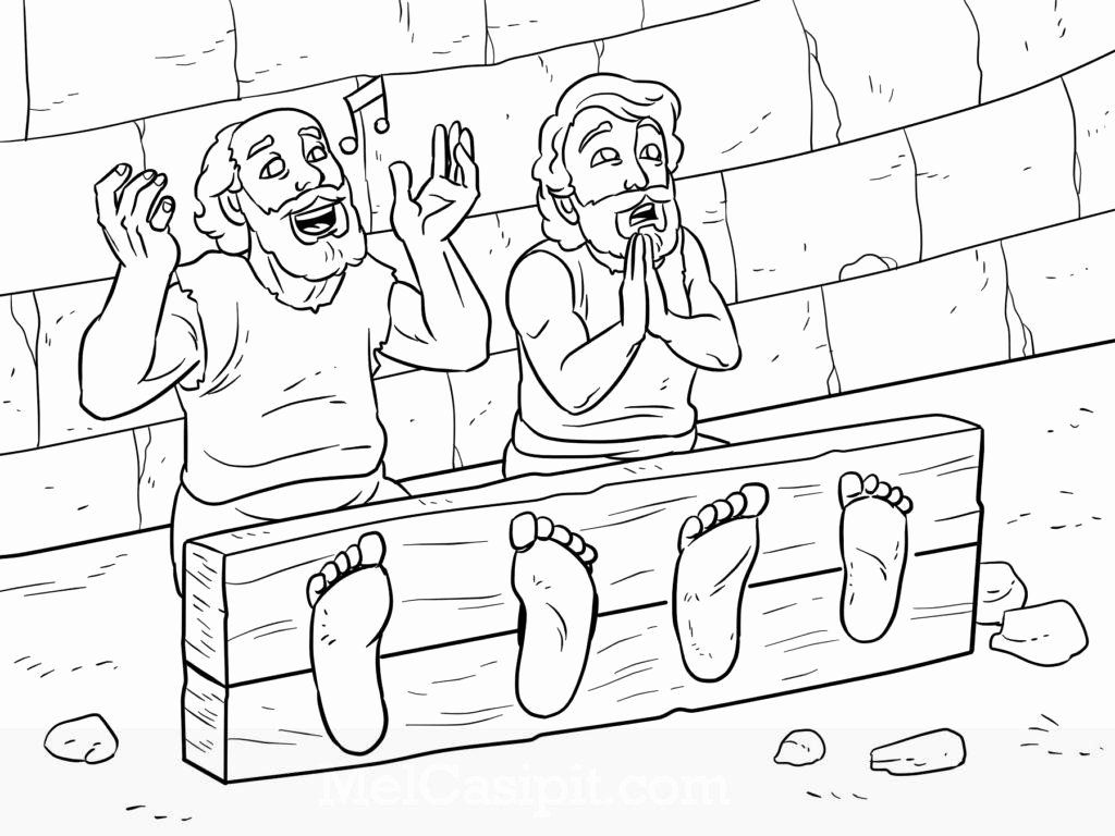 paul and silas coloring page paul and silas in the earthquake in jail bible story coloring and paul page silas