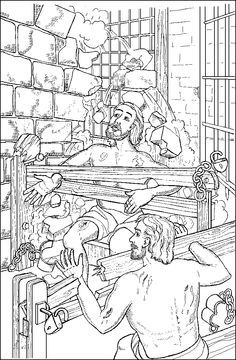 paul and silas coloring page pin by ernie n jenny jones on paul silas in prison and coloring silas page paul