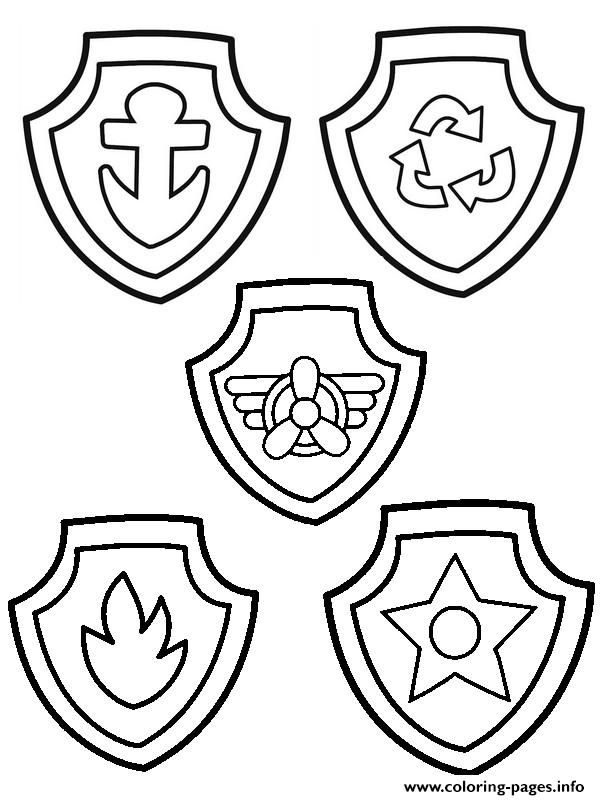 paw patrol badges coloring pages chase badge from paw patrol coloring page free coloring pages patrol coloring paw badges
