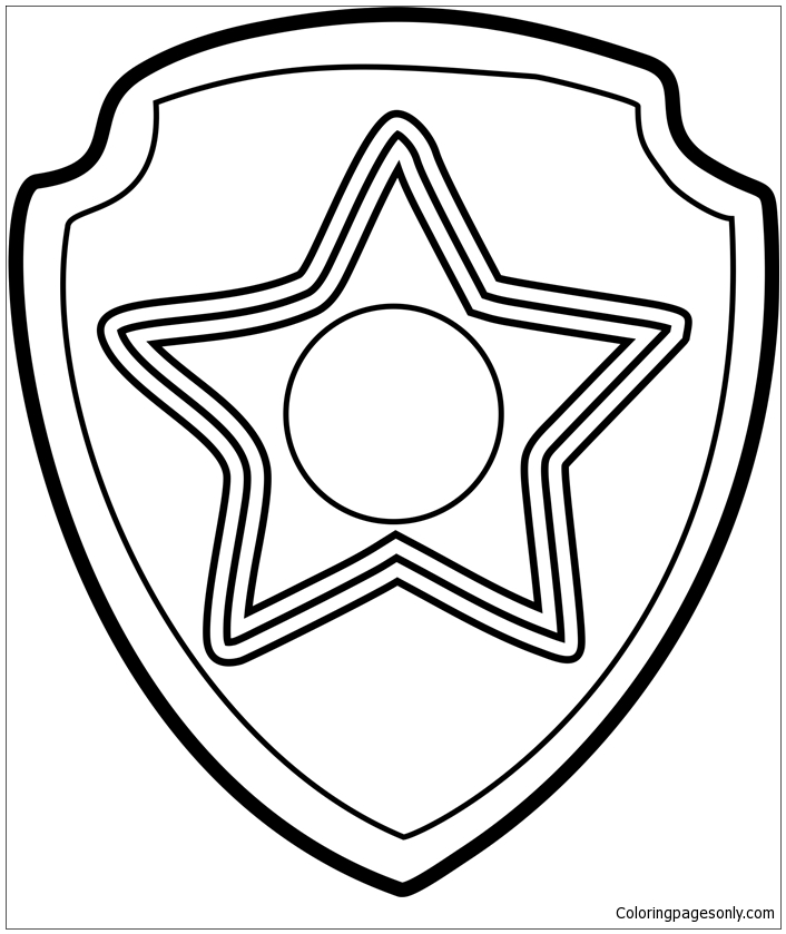 paw patrol badges coloring pages skye paw patrol badge coloring coloring pages pages badges patrol coloring paw