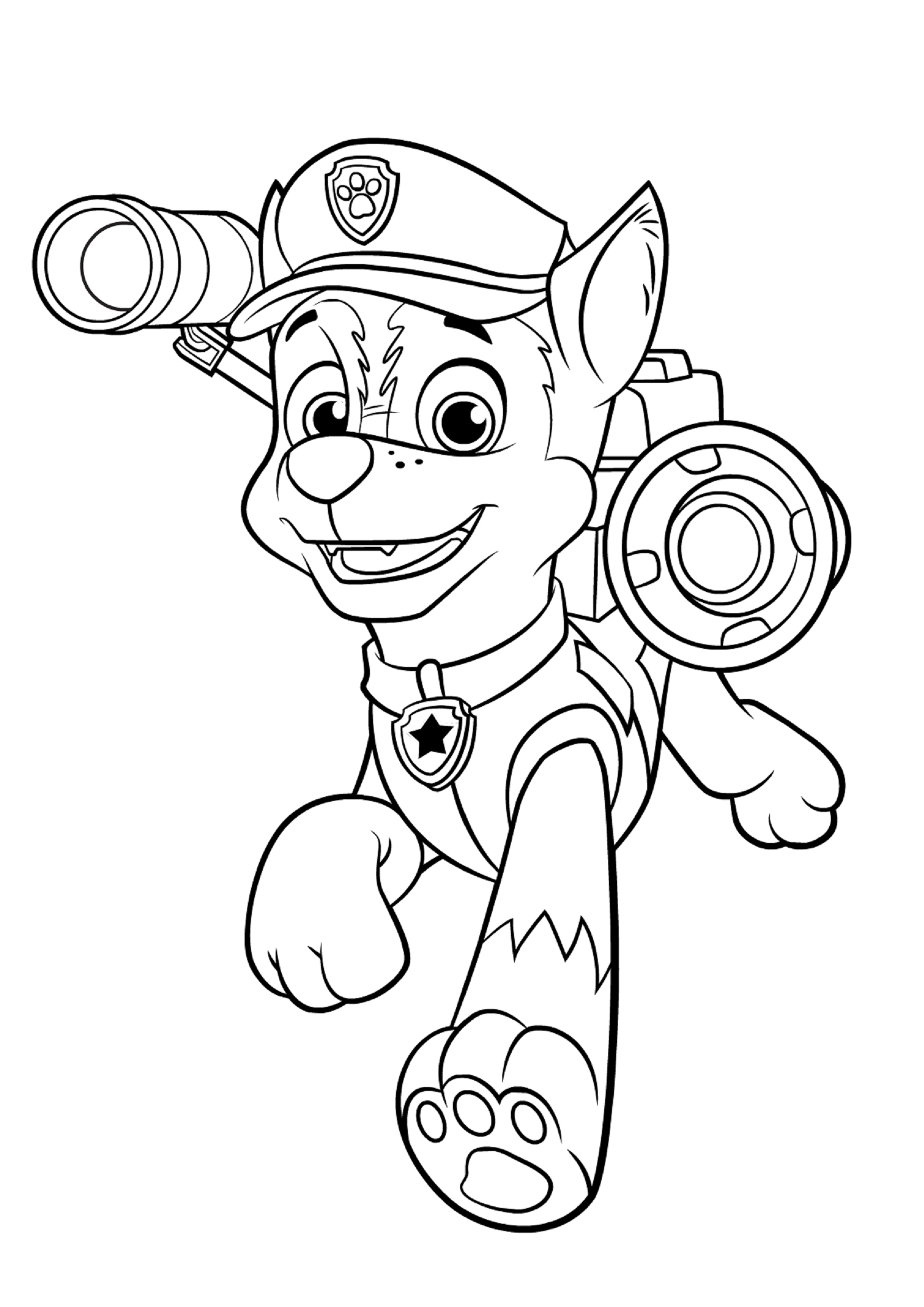 paw patrol chase coloring 25 excellent picture of chase paw patrol coloring page paw chase coloring patrol