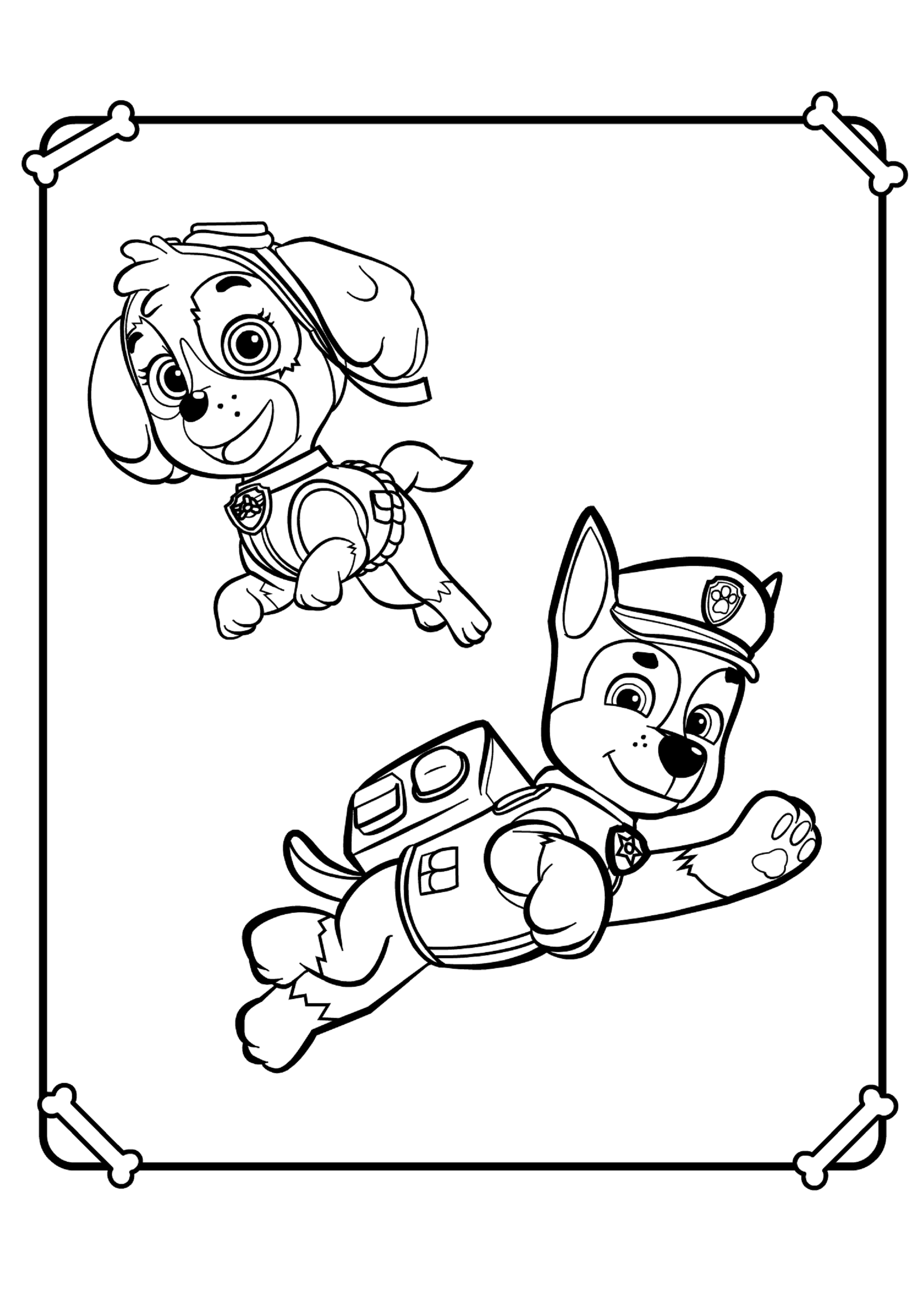 paw patrol chase coloring chase from paw patrol coloring pages cartoons coloring coloring patrol paw chase