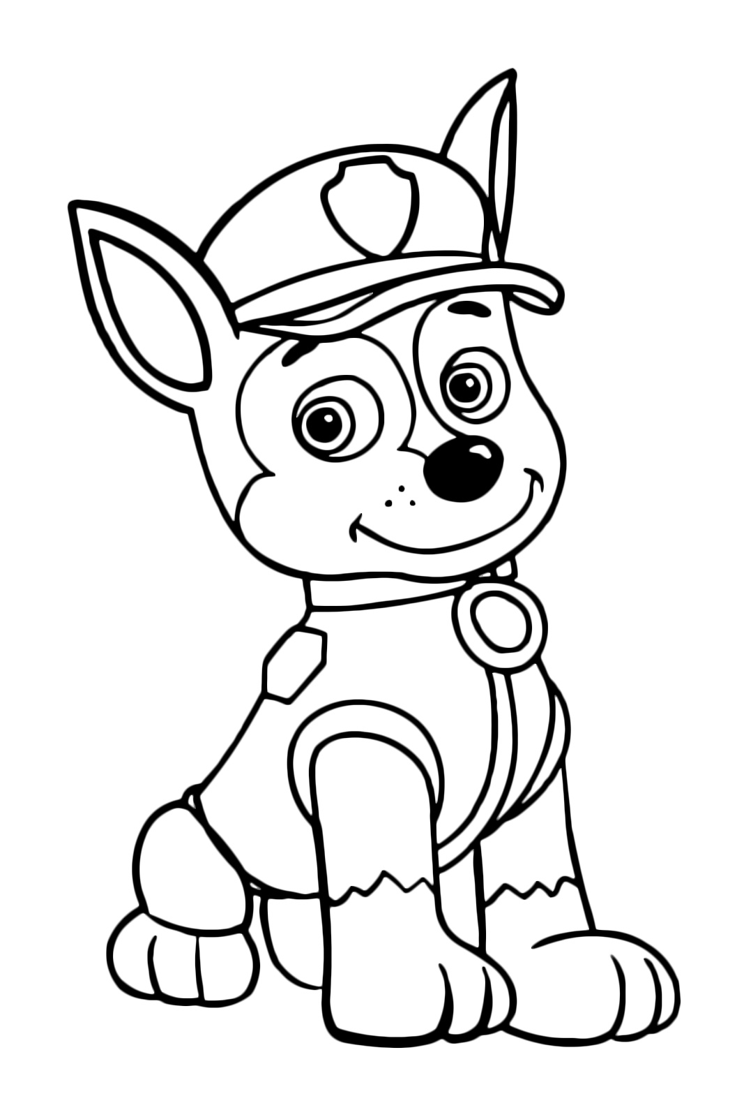 paw patrol chase coloring chase paw patrol coloring pages at getdrawings free download patrol paw coloring chase