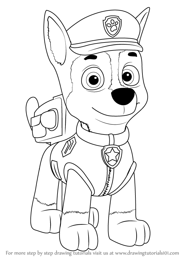 paw patrol chase coloring chase paw patrol coloring pages to download and print for free coloring patrol paw chase