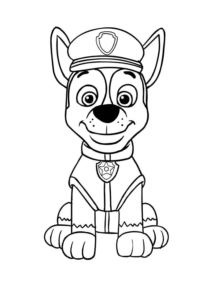 paw patrol chase coloring page chase paw patrol black pose coloring page coloring paw page patrol chase