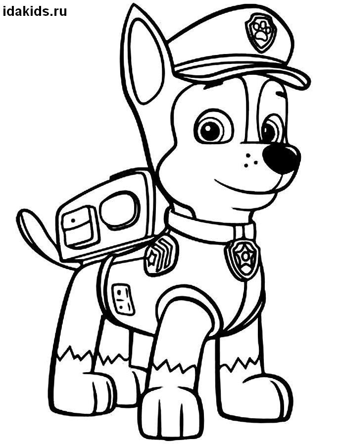 paw patrol chase coloring page chase paw patrol coloring page free coloring pages online patrol page paw coloring chase