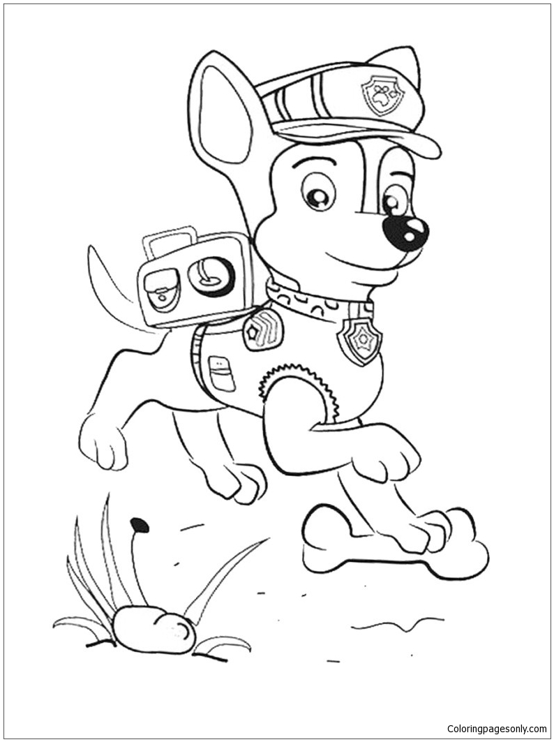 paw patrol chase coloring page chase paw patrol coloring pages to download and print for free chase coloring patrol paw page