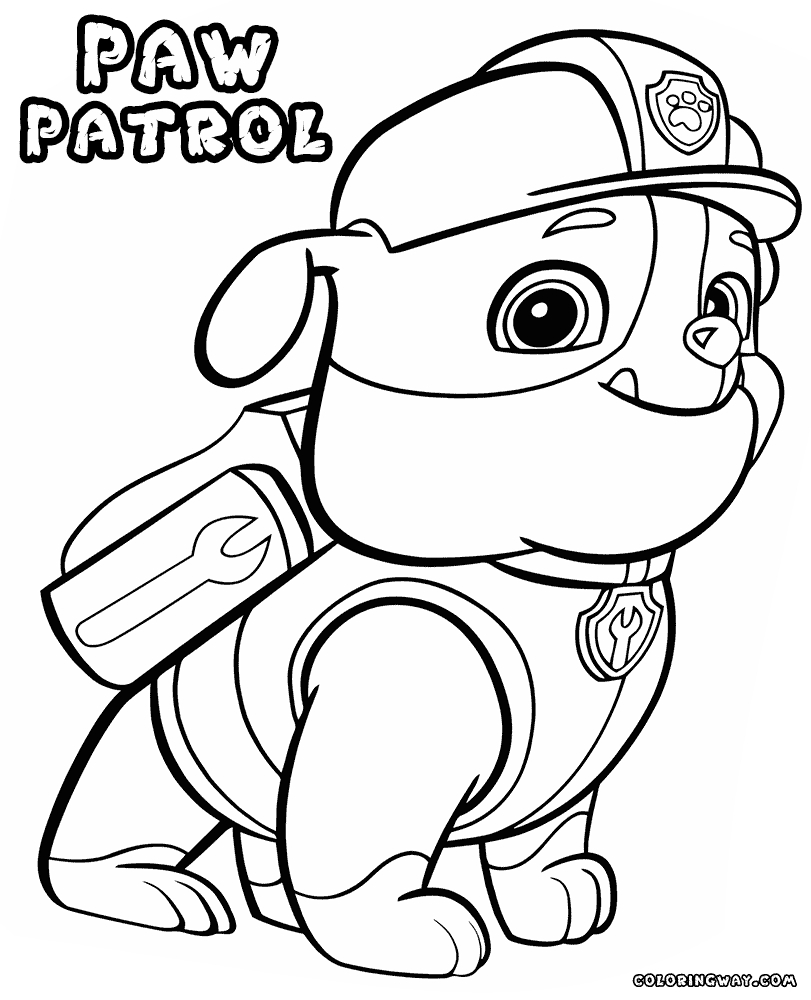 paw patrol chase coloring page chase paw patrol drawing at getdrawings free download page patrol paw coloring chase