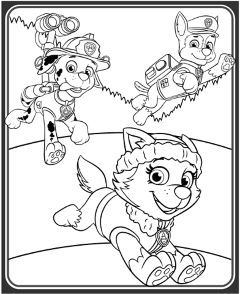 paw patrol coloring outline chase paw patrol coloring lesson kids coloring page paw patrol coloring outline