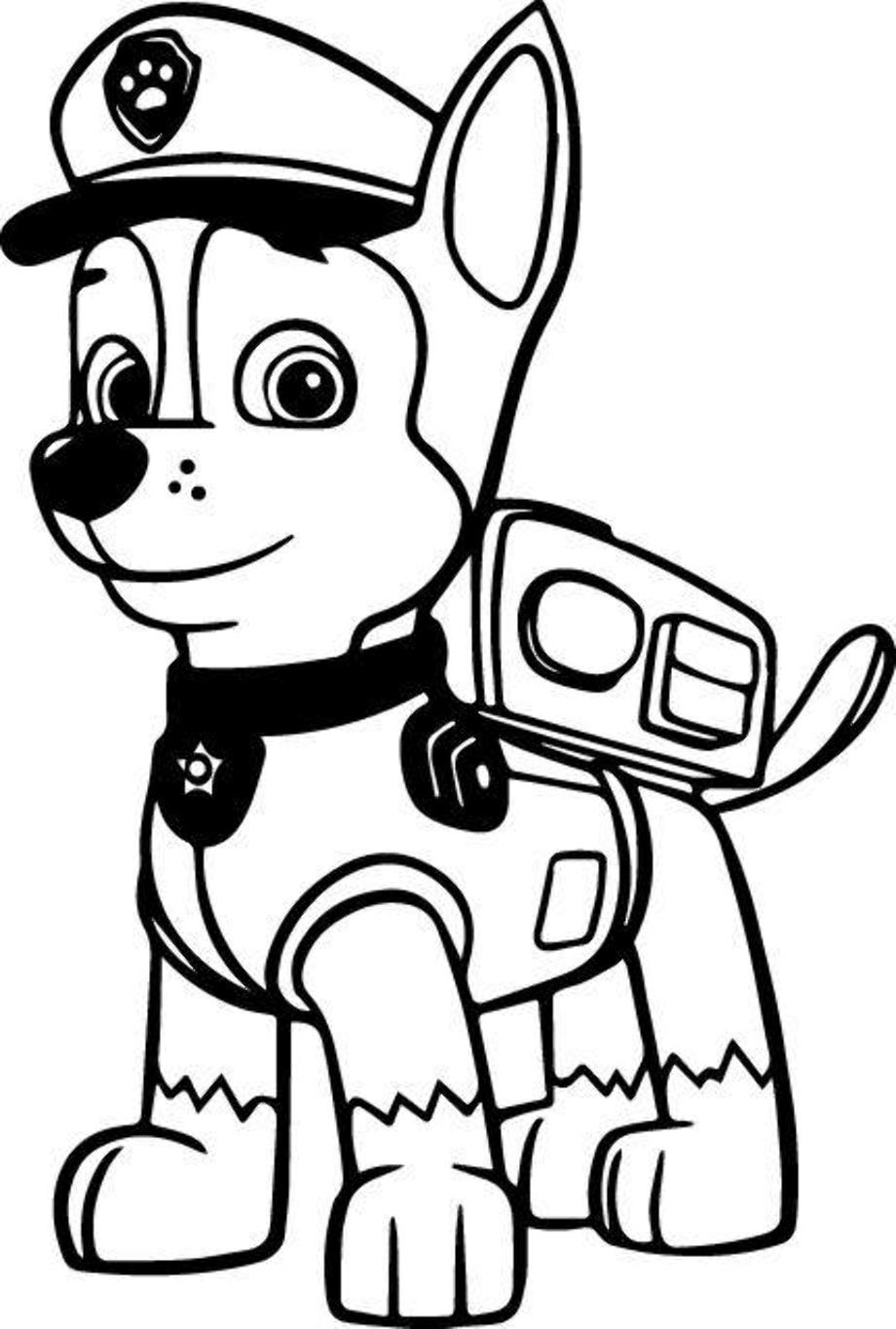 paw patrol coloring outline download high quality paw patrol clipart outline coloring outline patrol paw