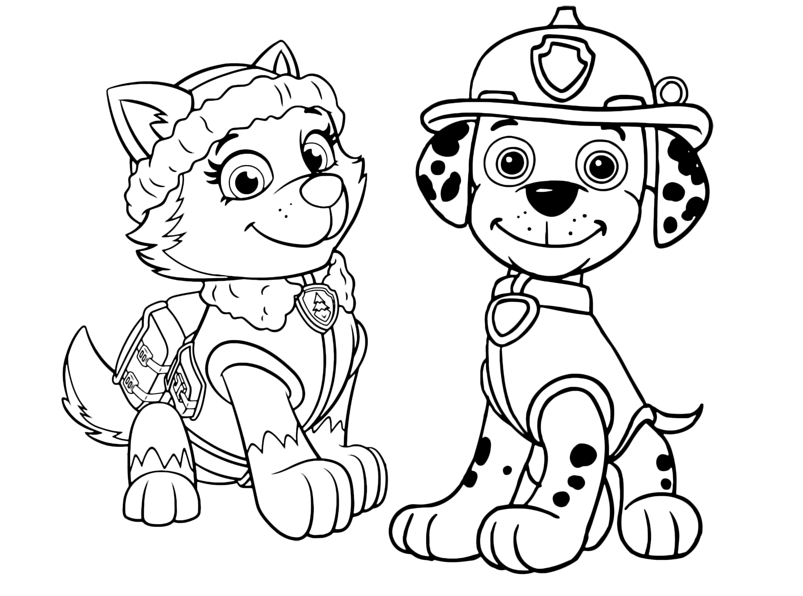 paw patrol coloring outline everest paw patrol coloring lesson kids coloring page patrol coloring paw outline