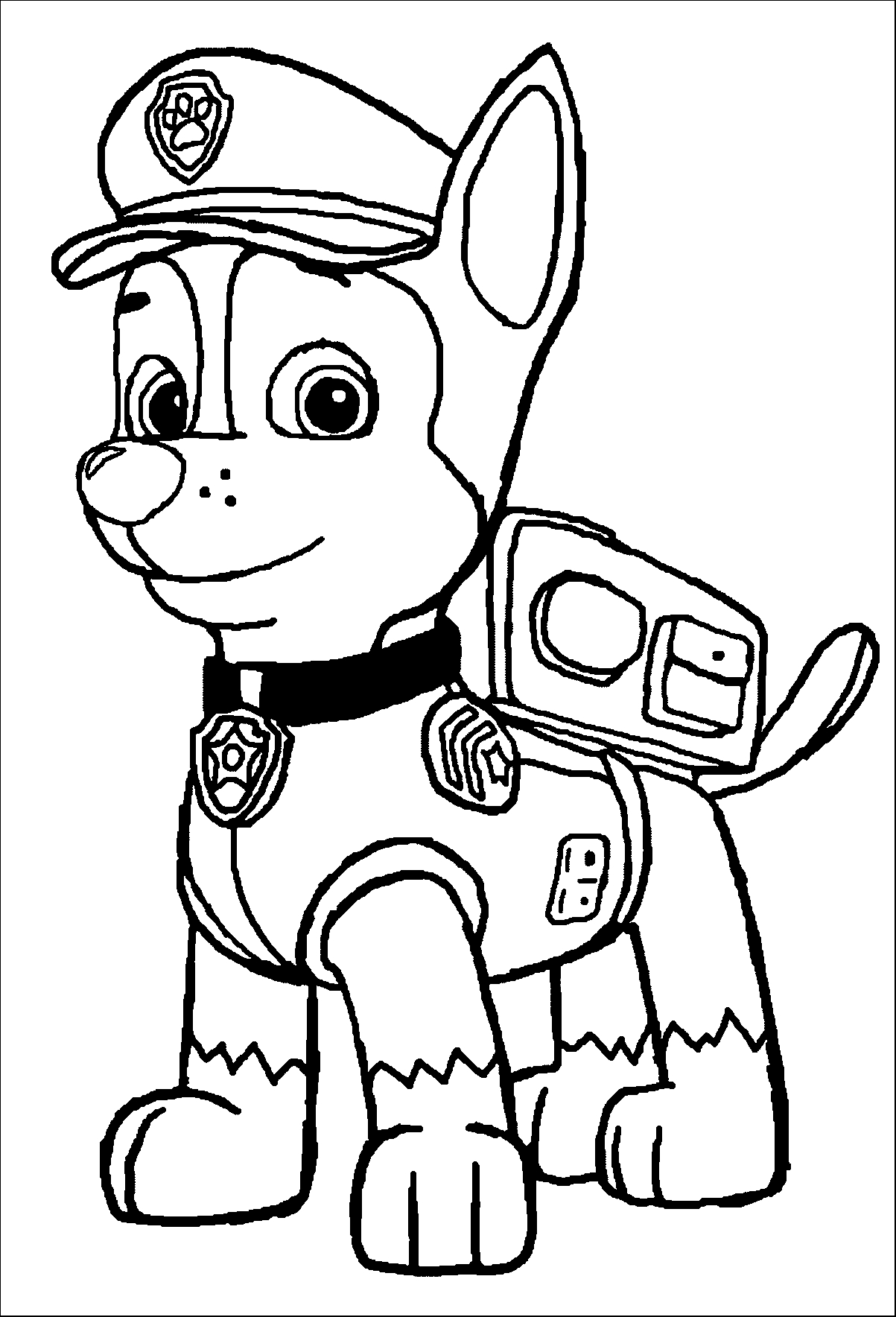 paw patrol coloring outline everest paw patrol coloring lesson kids coloring page patrol outline coloring paw