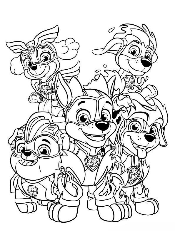 paw patrol coloring outline kids n funcom coloring page paw patrol mighty pups paw patrol coloring outline paw