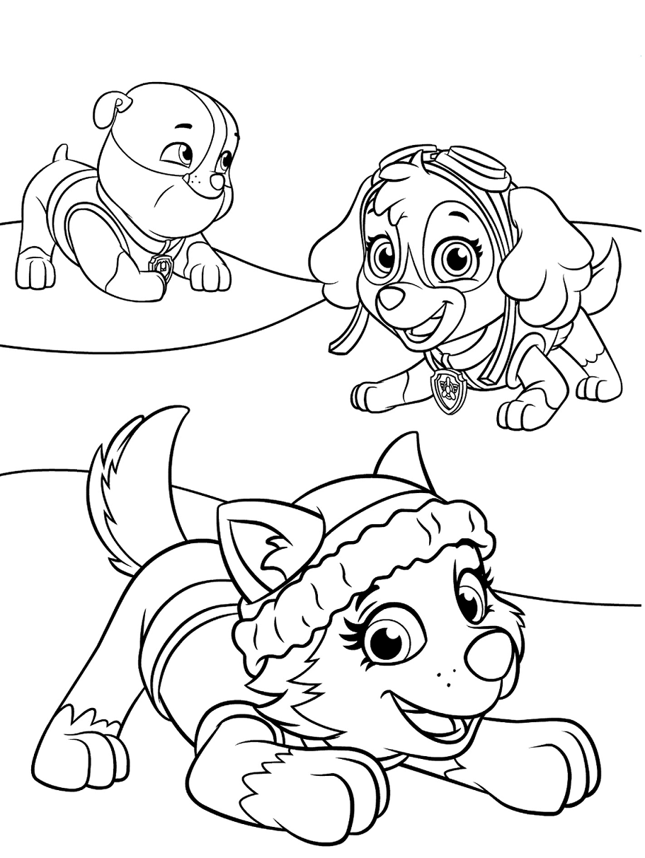 paw patrol coloring outline rubble paw patrol coloring lesson kids coloring page patrol coloring outline paw