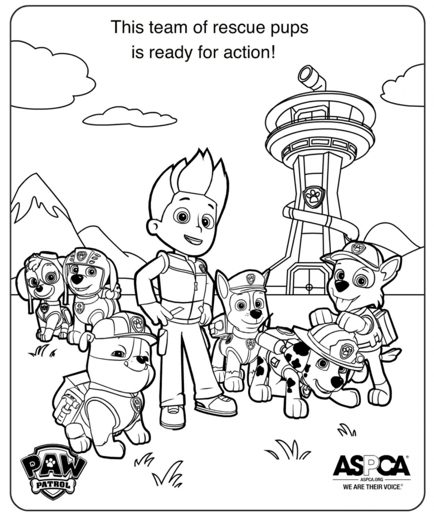paw patrol pictures to print free printable paw patrol coloring pages for kids patrol print pictures to paw