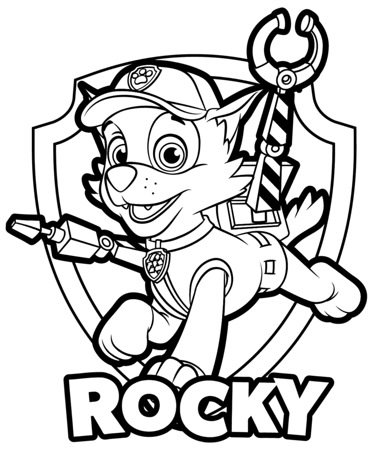 paw patrol rocky paw patrol coloring pages rocky paw patrol coloring paw paw patrol rocky