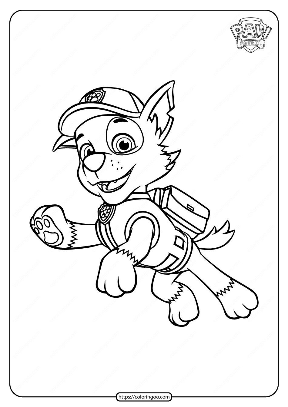 paw patrol rocky paw patrol rocky recycler dog in action with his vehicle rocky paw patrol