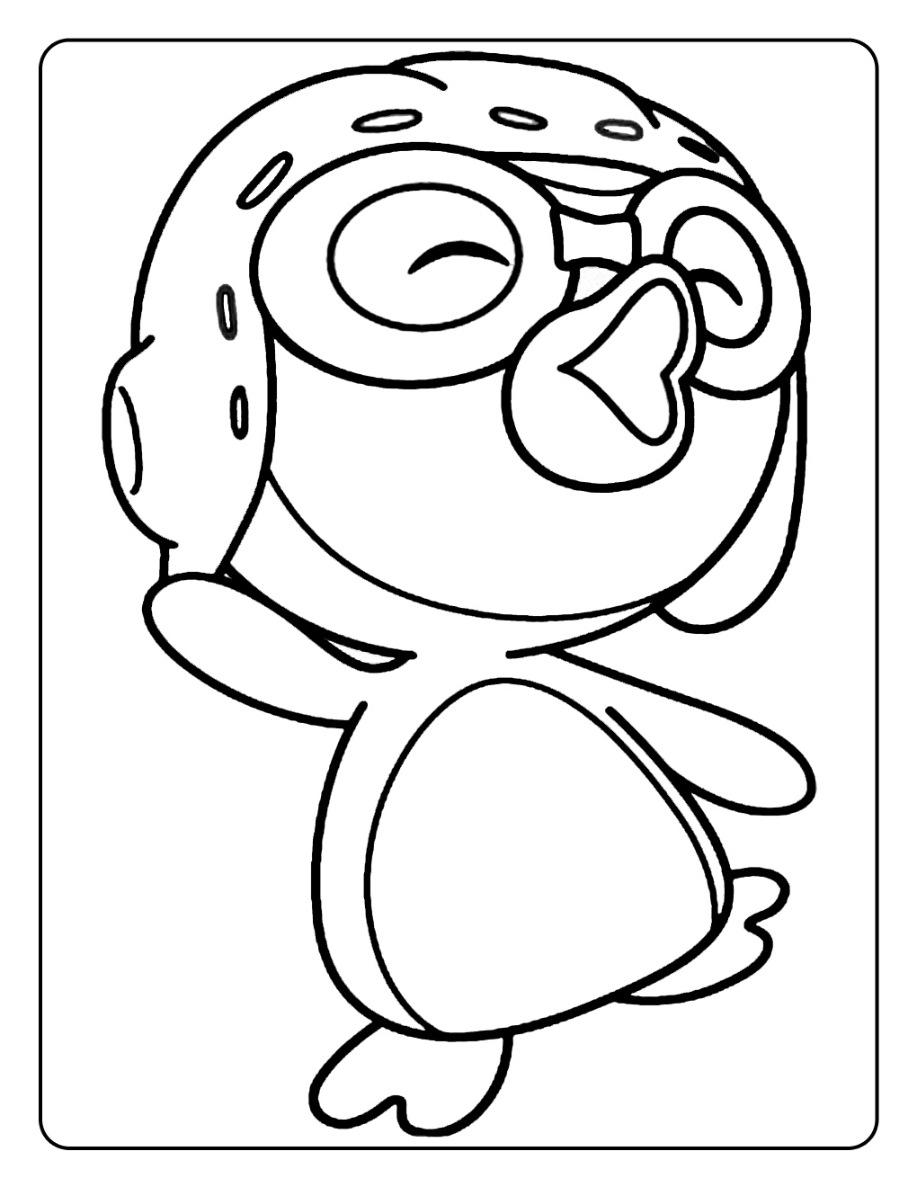 penguin color sheets Рororo the little penguin coloring pages penguin color sheets