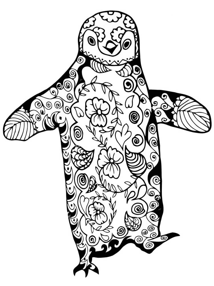penguin color sheets color by number cute penguin coloring page for kids color penguin sheets