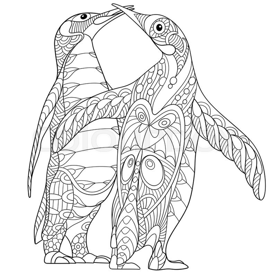 penguin color sheets free penguin coloring pages for adults printable to color penguin sheets