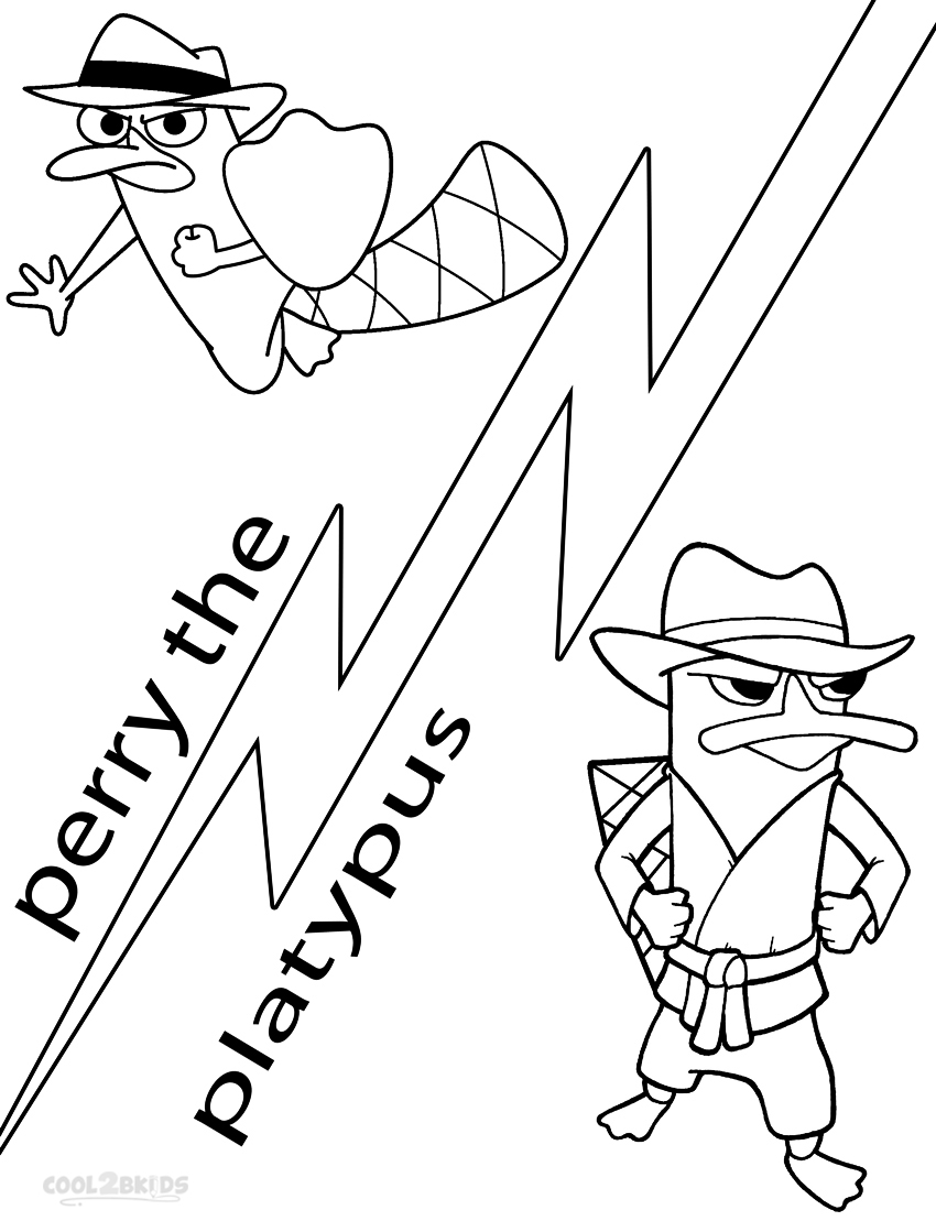 perry the platypus coloring pages perry the platypus coloring pages coloring pages to perry coloring the platypus pages