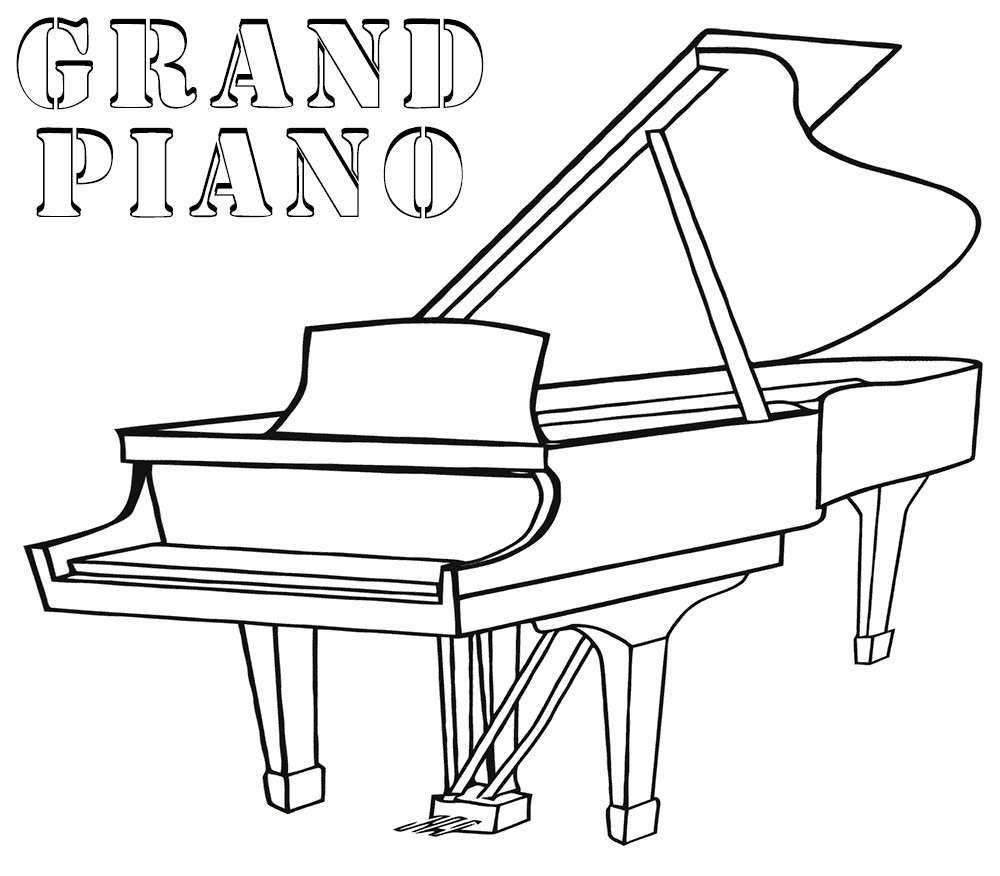 piano pictures to color cute cartoon girl playing the piano coloring book stock color piano to pictures