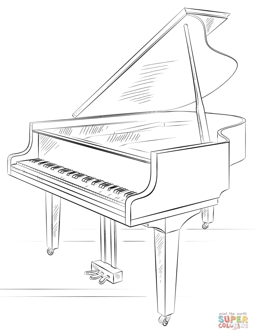 piano pictures to color grand piano opened coloring page coloringcrewcom piano color pictures to