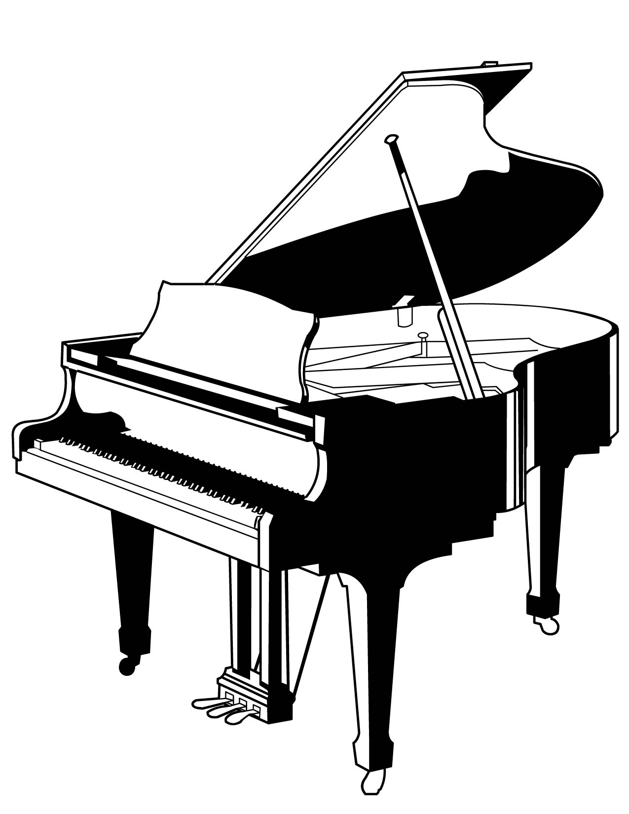 piano pictures to color piano coloring pages color pictures piano to